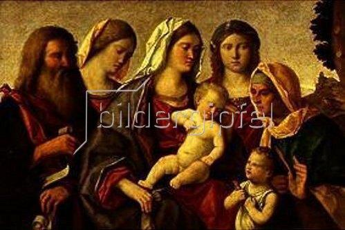 Francesco Bissolo: Sacra Conversazione. (Maria mit Jesuskind und Heiligen)