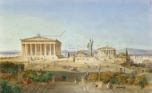Ludwig Lange: Die Akropolis von Athen zur Zeit des Perikles 444 v.Chr. 1851.