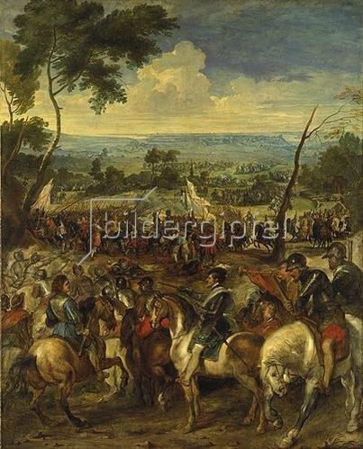 Peter Paul Rubens: Heinrich IV. in der Schlacht bei Arques. (Zusammen mit Pieter Snayers). 1628/03