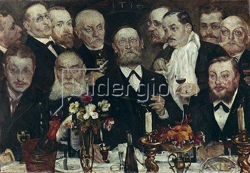 Lovis Corinth: Die Logenbrüder. 1898.