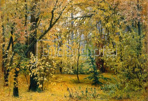 Iwan Iwanowitsch Schischkin: Herbstwald. 1876.