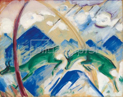 Franz Marc: Gemsen. 1911