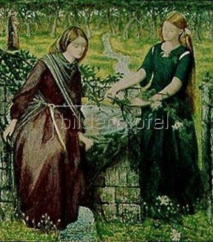 Dante Gabriel Rossetti: Dantes Vision von Rahel und Leah.