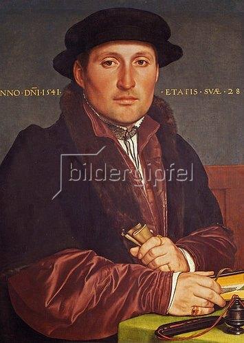 Hans Holbein d.J.: Bildnis eines jungen Kaufmanns (angebl. Hans von Muffel aus Nürnberg).