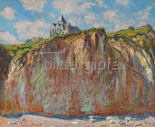Claude Monet: Die Kirche von Varengeville im Morgenlicht (Eglise de Varengeville, effet matinal). 1882