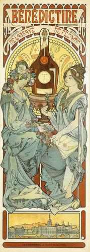 Alfons Mucha: Bénédictine 1898