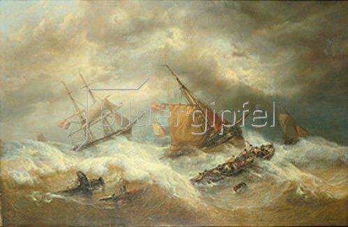 François Etienne Musin: Segelschiffe in schwerem Seegang.