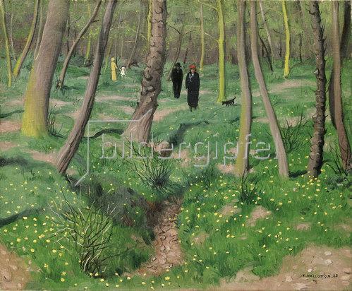 Felix Vallotton: Unterholz im Frühling (Sousbois en printemps). 1923