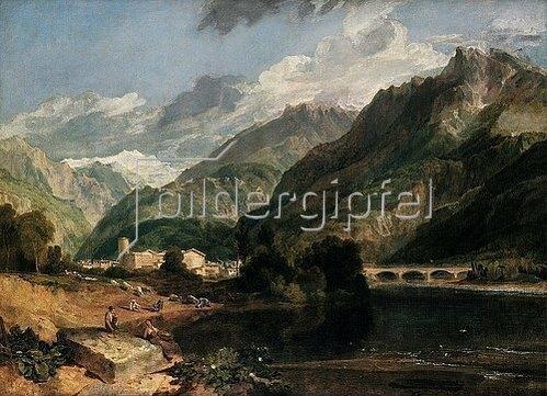 Joseph Mallord William Turner: Bonneville (Savoyen) mit Mont Blanc.