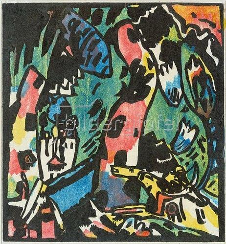 Wassily Kandinsky: Der Bogenschütze. 1908-09