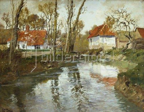 Frits Thaulow: Das Flüßchen Laita in Quimperle.