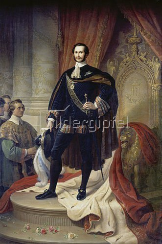 Wilhelm von Kaulbach: König Maximilian II. von Bayern als Hubertusritter. Nach 1854