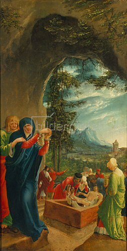 Albrecht Altdorfer: Sebastians-Altar. Grablegung Christi.