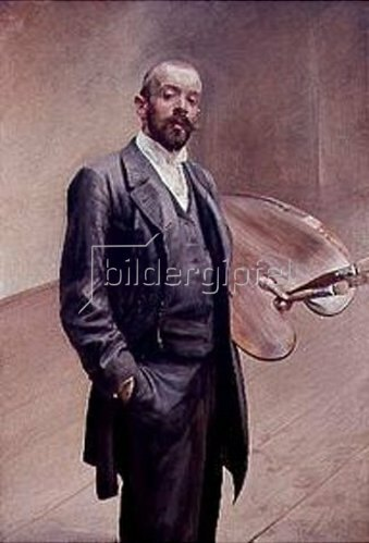 Jacek Malczewski: Selbstbildnis mit Palette 1892.