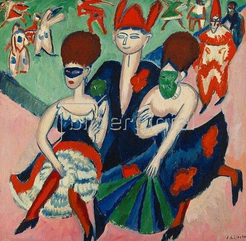Ernst Ludwig Kirchner: Maskentänzer. 1911.