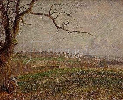 Camille Pissarro: Vue de Pontoise. 1884.