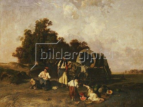 Pál Böhm: Zigeunerlager. 1895.