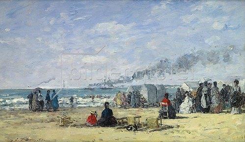 Eugène Boudin: Strandleben in Trouville. 1868.
