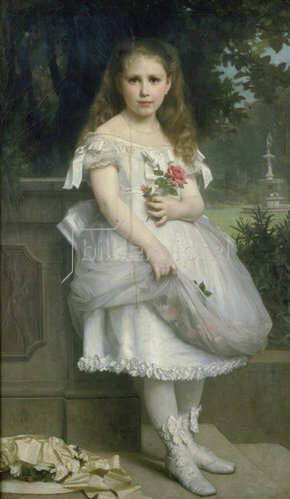 William Adolphe Bouguereau: Anna Mounteney Jephson im Ballkleidchen. 1874.