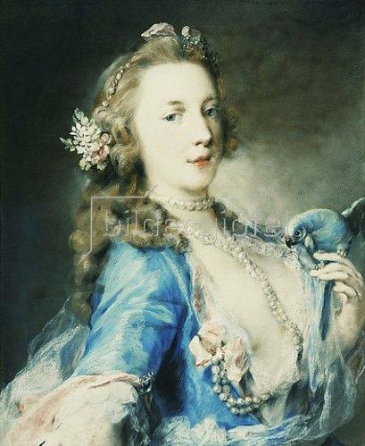 Rosalba Carriera: Junge Dame mit Papagei.