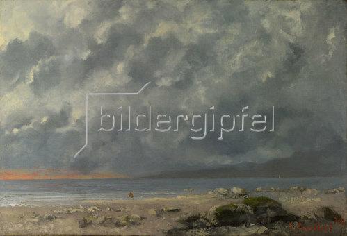 Gustave Courbet: Strandszene. 1874