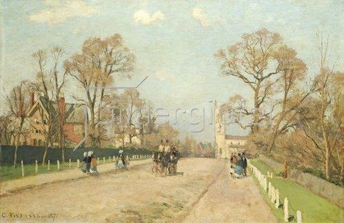 Camille Pissarro: Die Straße von Sydenham. 1871