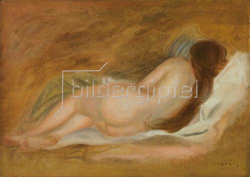 Auguste Renoir: Schlafender Akt von hinten. Ca. 1885