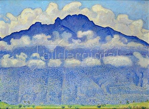 Ferdinand Hodler: Die Schynige Platte (Landschaft im Berner Oberland). 1909