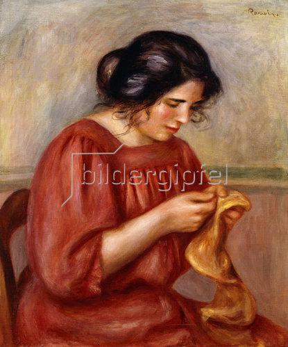 Auguste Renoir: Gabrielle beim Stopfen. 1908