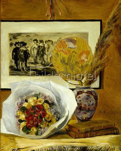 Auguste Renoir: Stillleben mit Blumenstrauß. 1871