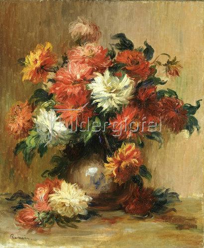 Auguste Renoir: Stilleben mit Dahlien. Um 1886-90