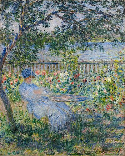 Claude Monet: Terrasse in Vétheuil 1881