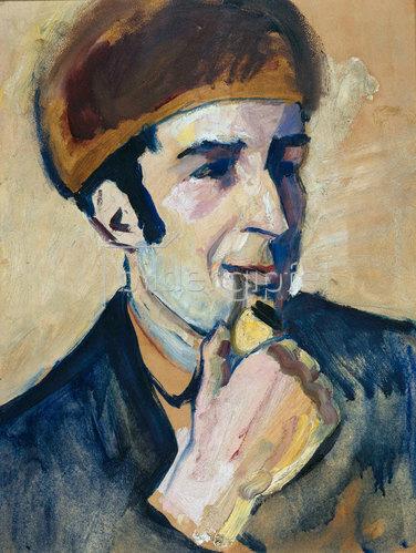 August Macke: Bildnis Franz Marc. 1910