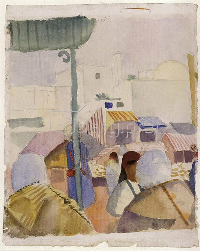 August Macke: Markt in Tunis (II). 1914