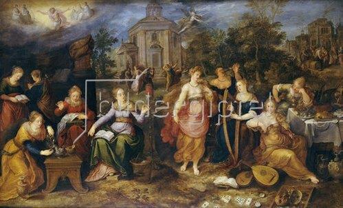 Frans Francken II.: Das Gleichnis von den klugen und den törichten Jungfrauen. 1616