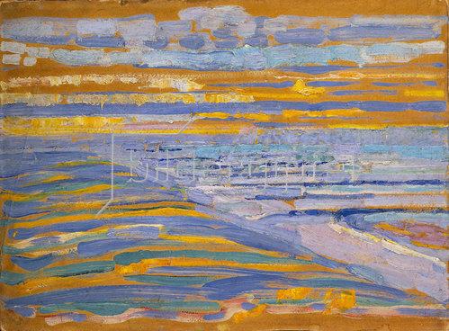 Piet Mondrian: Dünen mit Strand und Pier