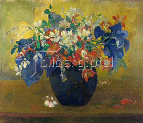 Paul Gauguin: Blumen in einer Vase. 1896