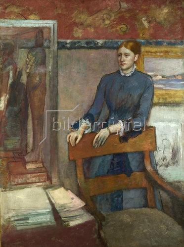 Edgar Degas: Hélène Rouart im Arbeitszimmer ihres Vaters. Um 1886