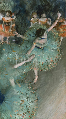 Edgar Degas: Tänzerinnen in Grün. 1877-79