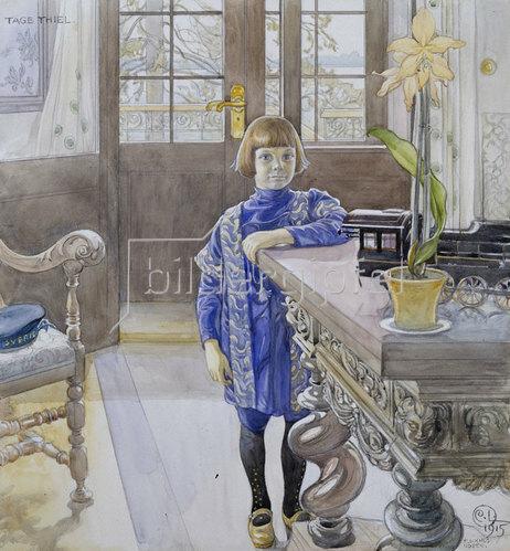 Carl Larsson: Porträt von Tage Thiel. 1915