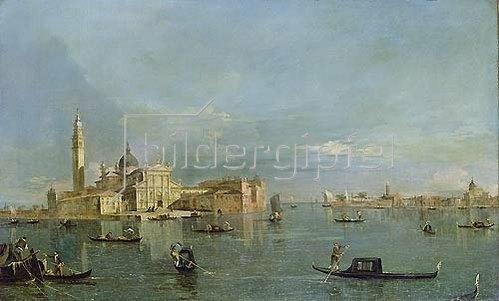 Francesco Guardi: Bacino di San Marco mit Blick auf San Giorgio Maggiore, Venedig.