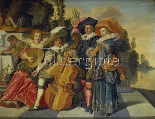 Dirck Hals: Elegante musikalische Gesellschaft auf einer Terrasse. 1625.