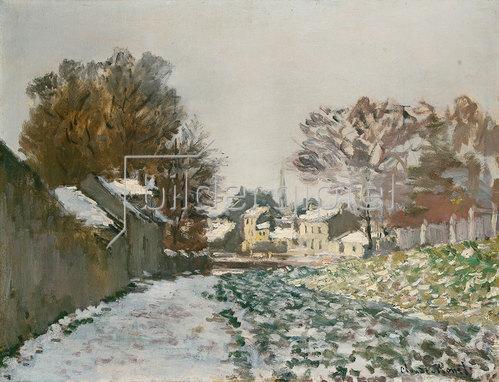 Claude Monet: Schnee bei Argenteuil