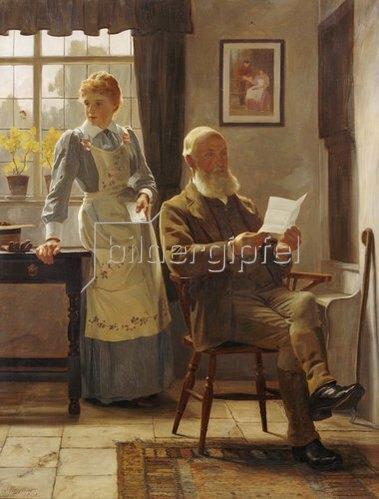 James Hayllar: Der Brief. 1898