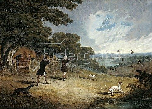 John Frederick Herring d.Ä.: Jagd auf Flugwild. 1833