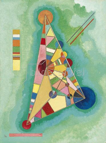 Wassily Kandinsky: Bunt im Dreieck. 1927
