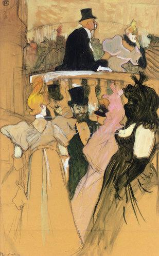 Henri de Toulouse-Lautrec: Opernball (Au bal de l'opéra). 1893