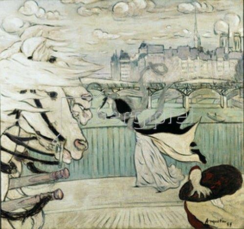 Louis Anquetin: Der Windstoß auf der Seinebrücke. 1889.