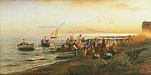 Albert Flamm: Hochzeitsgesellschaft am Strand.