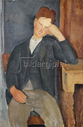 Amadeo Modigliani: Der Lehrling (Le jeune apprenti). 1918-19